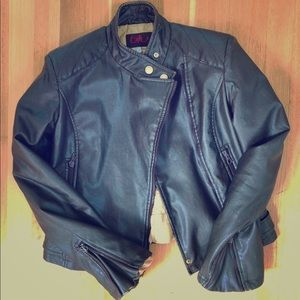 ☆SEXY☆ Byblos blu made in italy motorcycle jacket